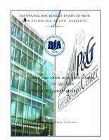 Các chiến lược kinh doanh quốc tế của công ty đa quốc gia, liên hệ P&G