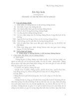 Bài thảo luận tìm HIỂU về THỊ TRƯỜNG CHỨNG KHOÁN
