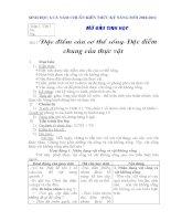 Giáo án  Sinh học 6  chuẩn mới 2011