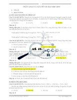 Phân loại và giải chi tiết đề thi ĐH 2009 - Khối A