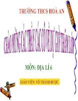 BAI 8: SƯ CHUYỂN ĐỘNG CỦA TRÁI ĐẤT QUANH MẶT TRỜI