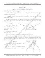Chuyên đề: Chứng minh các điểm thẳng hàng