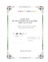 Tuyển tập các đề thi thử tốt nghiệp và đại học môn vật lý 2015 (có đáp án)
