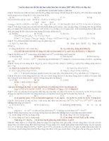 Tuyển chọn các đề thi đại học môn hóa học từ năm 2007 đến 2014 (có đáp án)