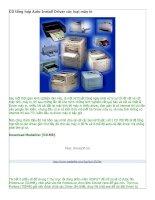 CD tổng hợp Auto Install Driver các loại máy in
