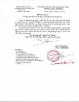 Thông báo về việc thay đổi chức danh và chữ ký giám đốc SGD Gia Lai