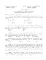 Đề thi HSG môn Vật lý 9 - 02