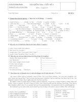 ĐỀ K 1 TIẾT SỐ 3  ANH 6 HAY
