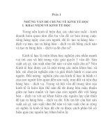 kinh tế học đại cương chương 1 NHỮNG VẤN ĐỀ CHUNG VỀ KINH TẾ HỌC