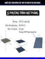 Bài tập phương trình mặt phẳng