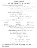 BT (đầy đủ) về giới hạn của hàm số