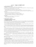 Đề cương ôn tập HSG Địa lý 9 (Phần KT - XH)