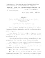 Thông tư 12/2009/TT-BGDĐT của Bộ BGD&ĐT ngày 12/5/2009 ban hành Quy định về tiêu chuẩn đánh giá chất lượng GD trường THCS