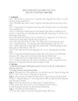 De cuong on tap mon vat ly 8 ky 2(80-09)- DIEU THAM KHAO II