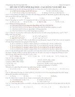 Câu hoi lý thuyết trong đề thi đại học