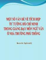 Nội dung tích hợp: Tư tưởng đạo đức Hồ Chí Minh (1)