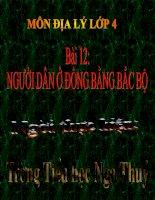 Bai 12  Nguoi dan o dong bang Bac