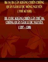 bài 14 ba lần kháng chiến chống quân Nguyên Mông (T3)