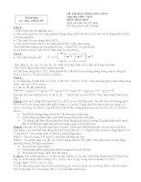 đáp án và đề thi hsg môn hóa - 9