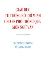Nội dung tích hợp: Tư tưởng đạo đức Hồ Chí Minh (2)