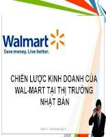Tiểu luận Chiến lược kinh doanh quốc tế của Wal-Mart tại thị trường Nhật Bản