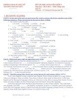 Đề và đáp án thi học sinh giỏi  môn Tiếng Anh  9- THCS Mỹ Đức 2010-2011.