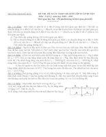 Đề và đáp án thi học sinh giỏi  môn Vật lý  9- THCS Mỹ Hòa 2010-2011.