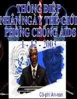 Thông điệp nhân Ngày thế giới phòng chống AIDS
