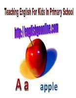 teaching English In Primay School - ABC  alphabet