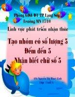 TOAN SO 5 TIET 1- CHU DE GIAO THONG