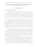 SỬ DỤNG TÀI LIỆU VĂN HỌC NHẰM GIÚP HỌC SINH HỨNG THÚ HỌC TẬP MÔN LỊCH SỬ VIỆT NAM LỚP 11