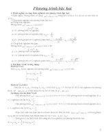 Tổng hợp các cách giải pt (đưa về pt bậc 2)