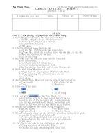 Đề kiểm tra tin học 6 - Kì 2 (bài số 10