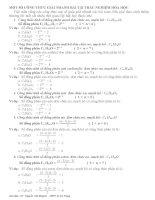 Công thức giải nhanh trắc nghiệm hóa học