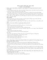 Đề cương ôn tập học kỳ 2 môn địa lớp 10 ( có đáp án)