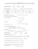 Công thức nhớ nhanh để làm bài trắc nghiệm Vatly 12