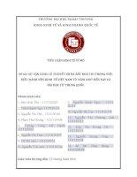 SỰ VẬN DỤNG LÝ THUYẾT BỘ BA BẤT KHẢ THI TRONG VIỆC ĐIỀU HÀNH NỀN KINH TẾ VIỆT NAM TỪ NĂM 2007 ĐẾN NAY VÀ BÀI HỌC TỪ TRUNG QUỐC