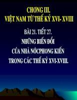 bai 21: nhung bien doi cu nha nuoc phong kien the ki XVI-XVIII