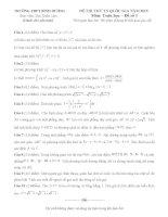 Đề thi thử môn toán vào đại học có đáp án đề số 15