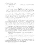 K.H Tổ chức chuỗi HĐ chào mừng ngày thành lập Đoàn 26.3.2011