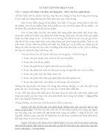 Rèn kĩ năng viết đoạn văn lớp 9