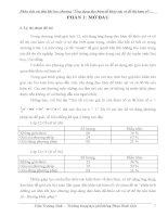 Phân tích sai lầm của học sinh khi dùng đạo hàm để giải toán