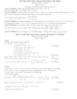 Đề thi HSG toán 8 co đáp án