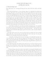 Chuyên đề Rèn kĩ năng viết đoạn văn