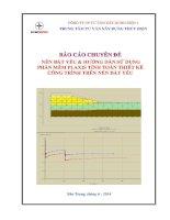 báo cáo chuyên đề nền đất yếu & hướng dẫn sửdụng  phần mềm plaxis tính toán thiết kế công trình trên nền đất yếu
