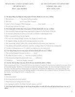 tổng hợp đề thi và đáp án tuyển sinh môn anh vào 10 các tỉnh
