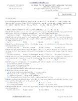 đề thi thử môn hóa Chuyên Vĩnh Phúc lần 1 khối A