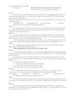 Đề và đáp án KSĐH 10 lần 3- Chuyên Vĩnh Phúc