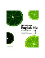 American english file 3 students book