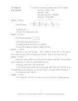 Các đề toán thi vào lớp 10 (Bắc Giang) từ 1996